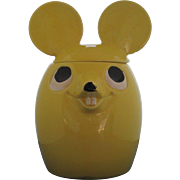 McCoy Bright Yellow Mouse Cookie Jar