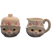 Cat Sugar and Creamer Set