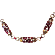 SPARKLING Trifari RED Multi-shape Bracelet JEWELED Symphony 1950