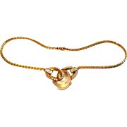 """1949 TRIFARI Jelly Belly """"Curl"""" Necklace"""