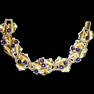 TRIFARI Kunio MATSUMOTO Purple Grape Rare Bracelet