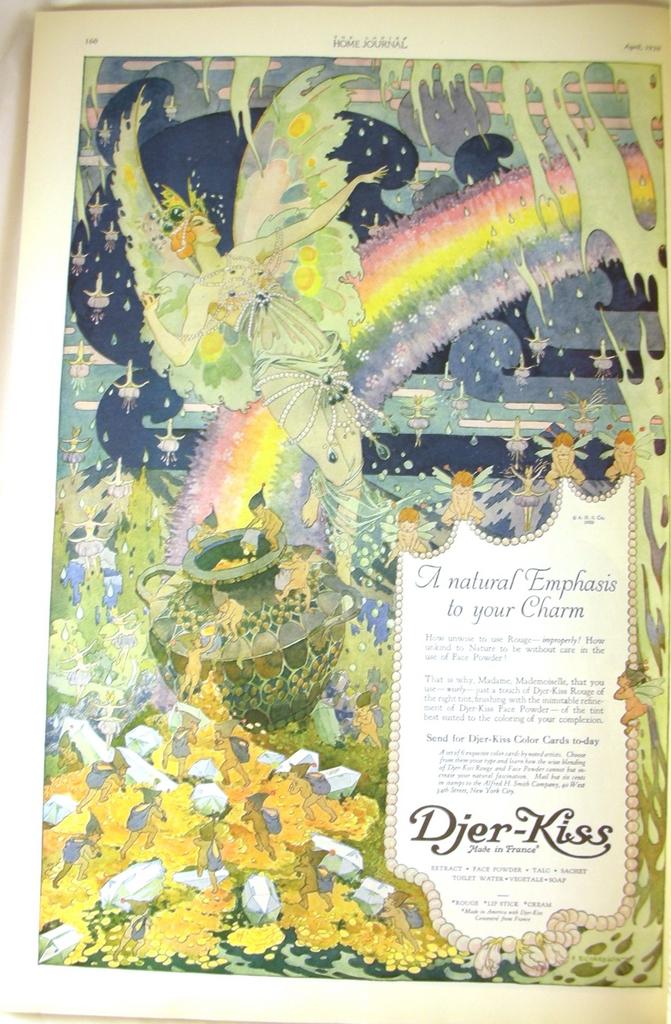 DJER-KISS Fairies F RICHARDSON Ad Ladies Home Journal 1920 Vintage Advertisement
