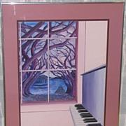 Piano by the Lake ~ Original Acrylic Painting
