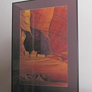 SUNLIT Canyon de Chelly ~ Original Signed Acrylic Painting by E.Dornin