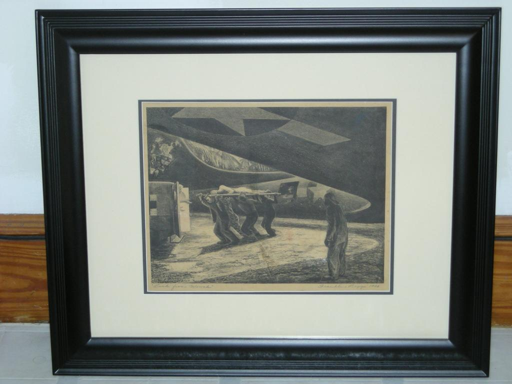 Listed Artist FRANKLIN BOGGS WWII Signed 1940's Lithograph