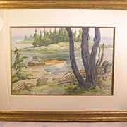 Edmund Franklin WARD Watercolor New York 1892-1991