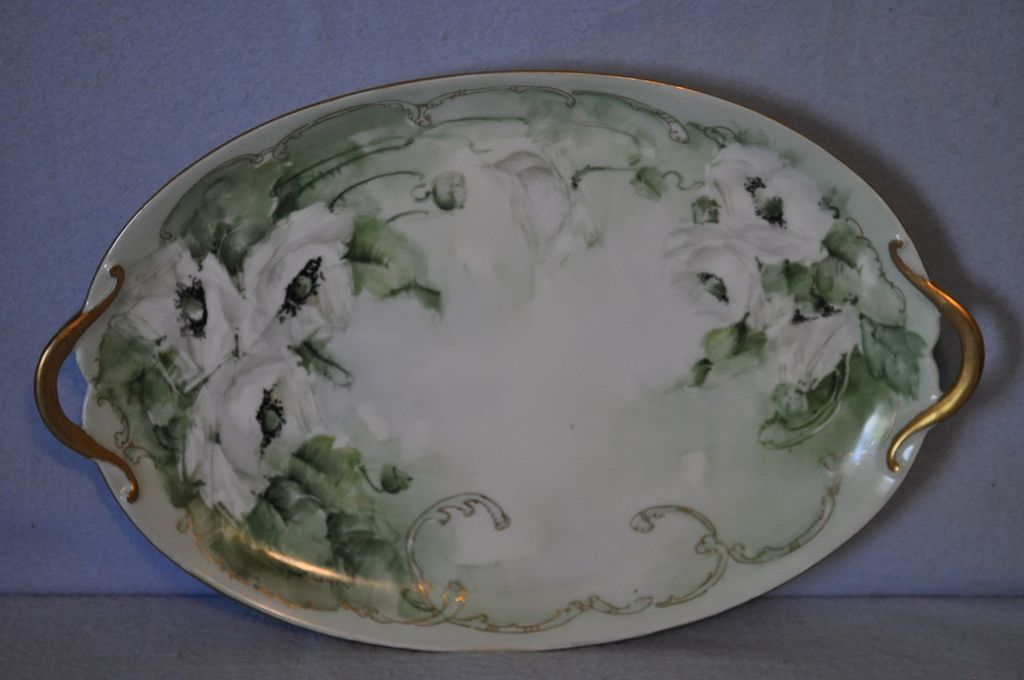 Signed Handpainted Limoges Platter