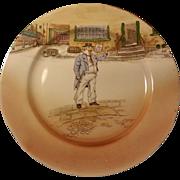 Pair Royal Doulton Dickens Ware Plates