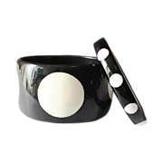 Black and White Polka Dot Bangle Bracelets