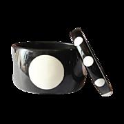 Black and White Polka Dot Bangle Bracelets