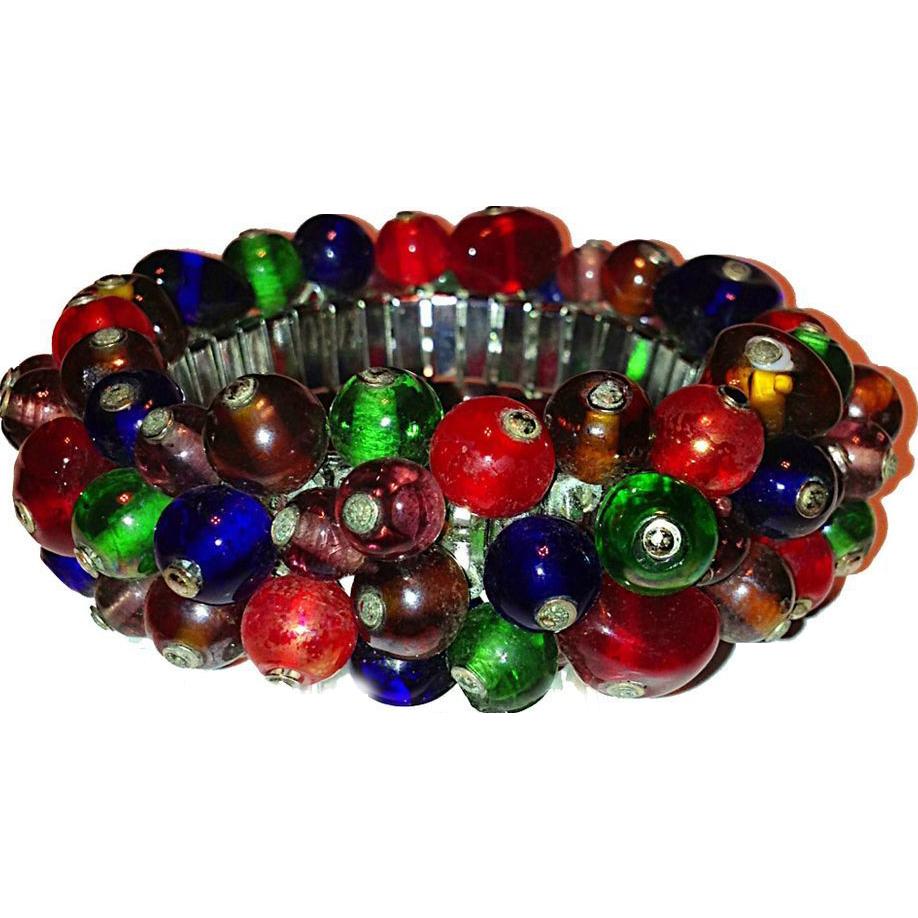 Glass bead fruit salad bracelet from bonnets bustles on