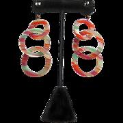 Cellulose Acetate Dangle Earrings