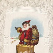 Old World Saint Nicholas With His Suitcase Very Fun Card