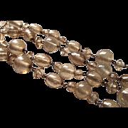 Vintage Venetian Necklace Glass Gold Foil Beads