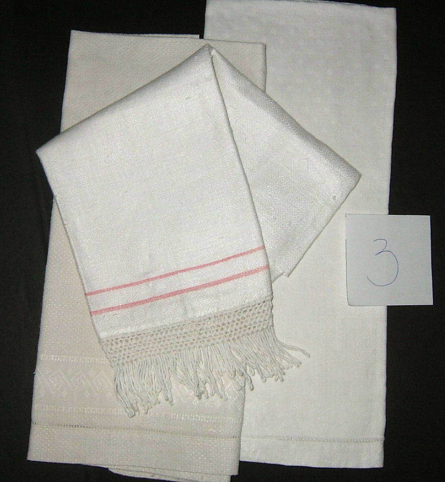 Three Piece Victorian Hand Show Towels  group #3