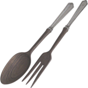 Sterling Salad Serving Set Webster Two Piece