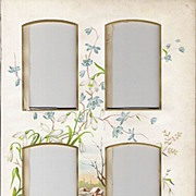 Victorian Photo Album Matte Page with Chromolithograph Flowers