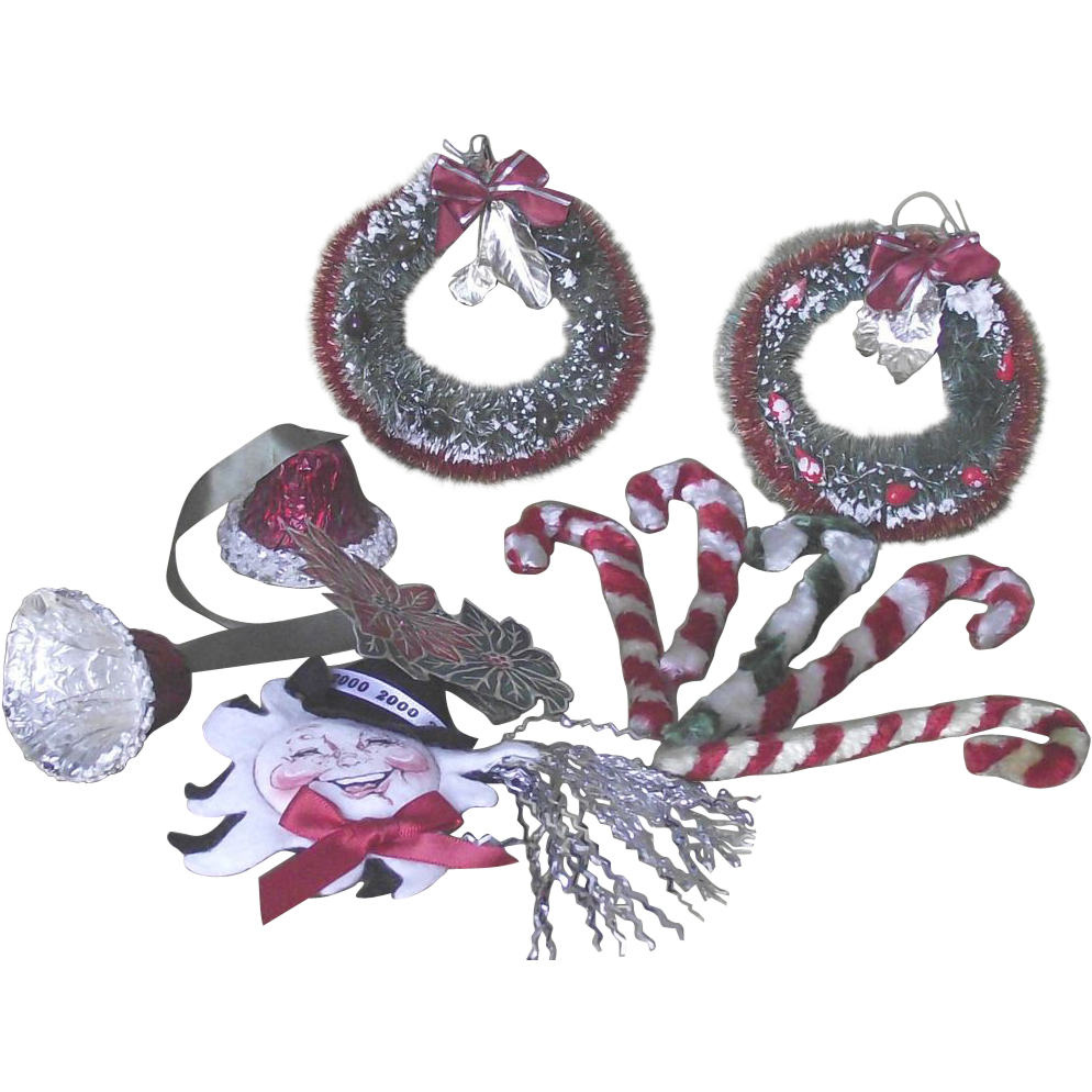 Christmas Collection Chenille Pipe Cleaner -Bottle Brush Wreaths