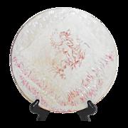 Victorian American Majolica Napkin Plate with Cherub Circa 1900