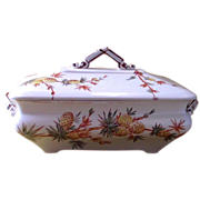 Aesthetic Movement Ridgeway Pineapple Pattern Covered Dish