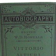 1877 Autobiography of Vittorio Alfieri  Italian Poet 1749-1803