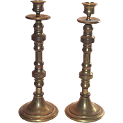 Vintage Brass Candle Sticks  Tall and Very Nice