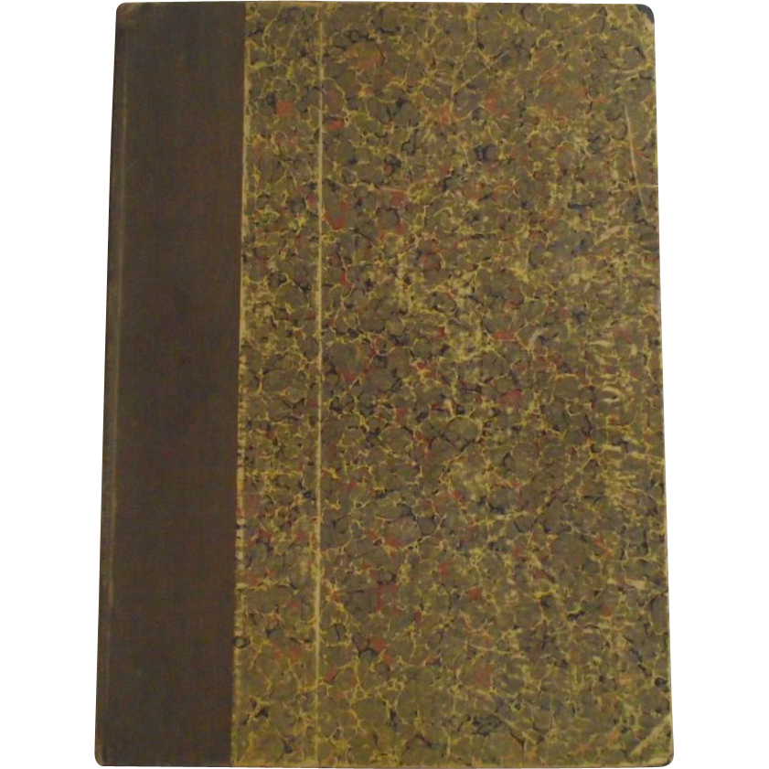 1911 Hard Board Copy of Country Life in America Marbleized Paper Cover