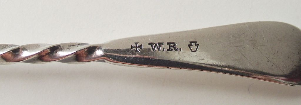 Beautiful Twisted Handle Early W Rogers Mayonnaise Spoon