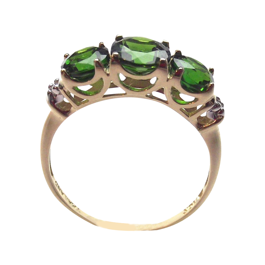 Russian Chrome Diopside 10Kt Y. Gold 2ct Ring sz.7  RING ON HOLD for Dorothy