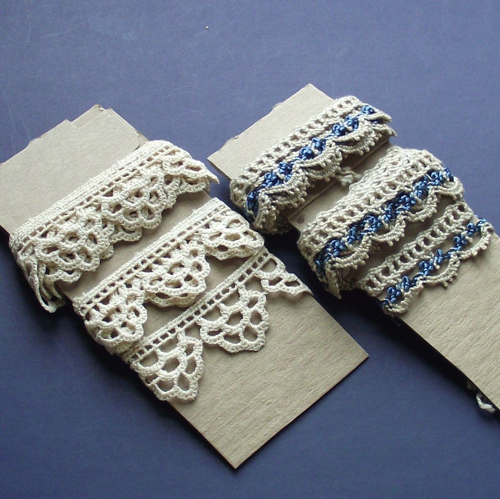 Handmade Crotchet Edging - Several Yards   Two Styles