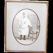 1920's Picture Frame Velvet Back & Easel Fabric Matte