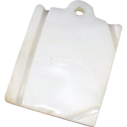 Vintage Mother of Pearl Fob Book Shape