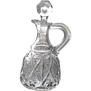 EAPG Cruet Dunkirk Diamond made by Ohio Flint Glass Co, 1896