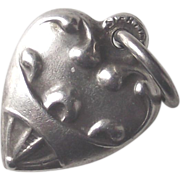 Sterling Heart Puffy Heart Charm TINY Perfect for your Fashion Doll