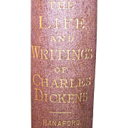 Antique Book The Life and Writings of Charles Dickens: A Woman's Memorial Volume 1871