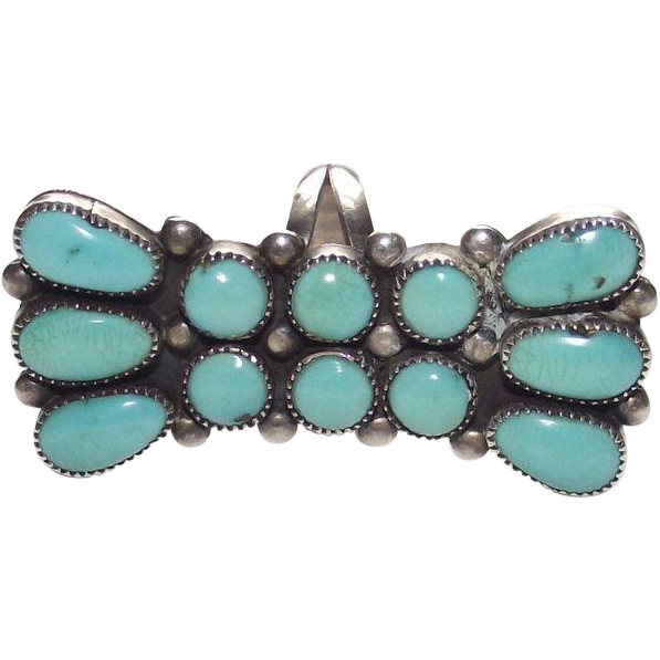SOLD  Sterling and Turquoise Ring Artist Signed: Julie O Lahi     Thank you