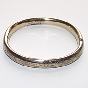 Vintage Young Girls Bangle Bracelet 12Kt Gold Fill
