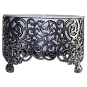Reed and Barton Silver Plate Cache Pot with Enamel Liner