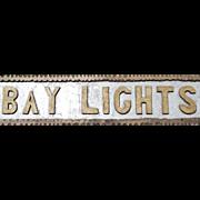 """Vintage Coast of Maine Chip Carved Wooden Sign """"Bay Lights"""""""