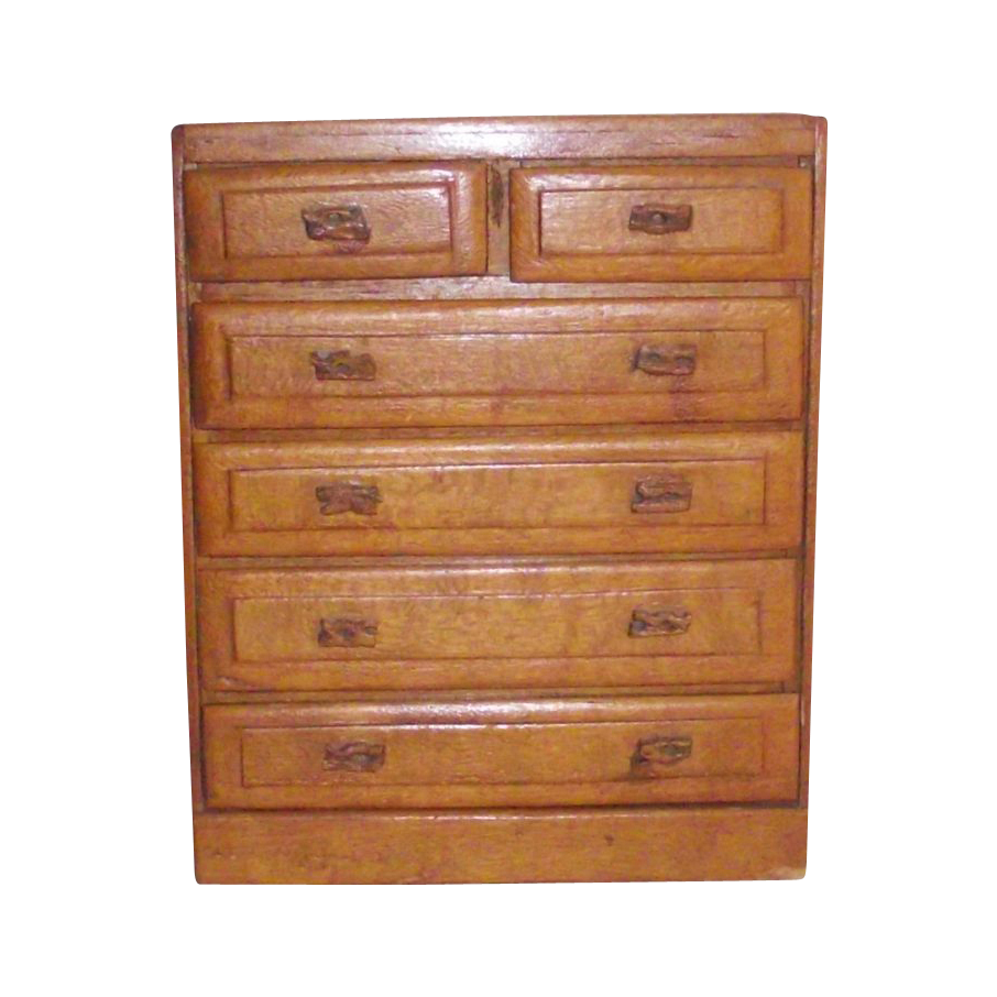Doll Dresser with Dried Cactus Handles on Drawers C.1940s