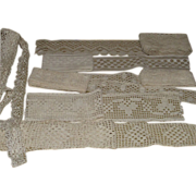 Lace Yardage Seven piece Groups - 3 Handmade
