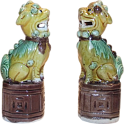 Chinese Export Foo Dogs 1920s