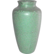 Arts and Crafts Matte Green Tall Vase by Zanesville Stoneware ITEM IS SOLD