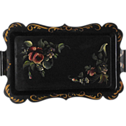 Roses and Violets 1930s Tole Tray