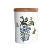 Vintage Portmeirion Canterbury Bells/Red Star 1 Botanic Gardens Canister