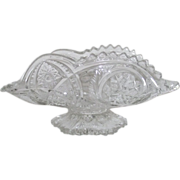 EAPG Clear Banana Boat with Pedestal
