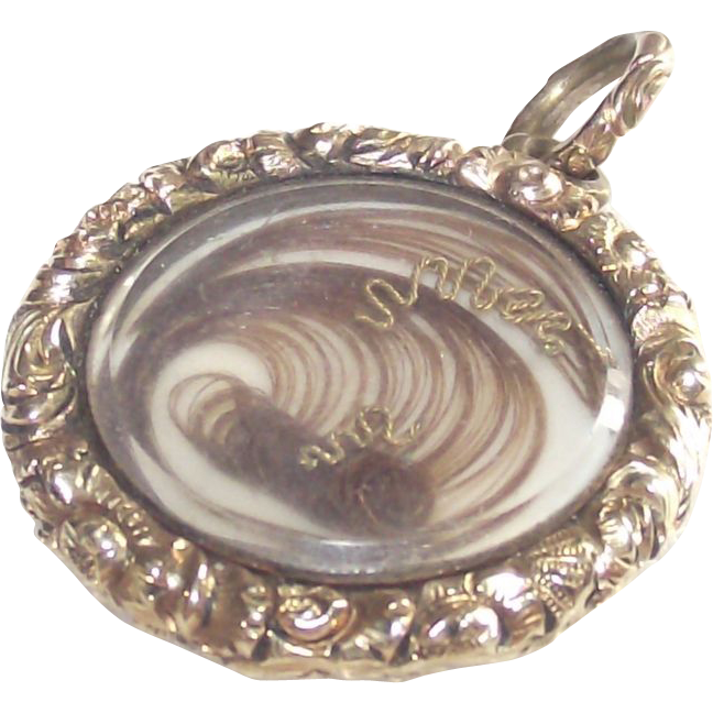 Victorian Prince of Wales Plated Hair Locket Circa 1860
