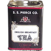 S.S.Pierce English Breakfast Tea Tin