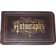 Victorian Autograph Album 1880s  Many New Hampshire Signatures - Red Tag Sale Item