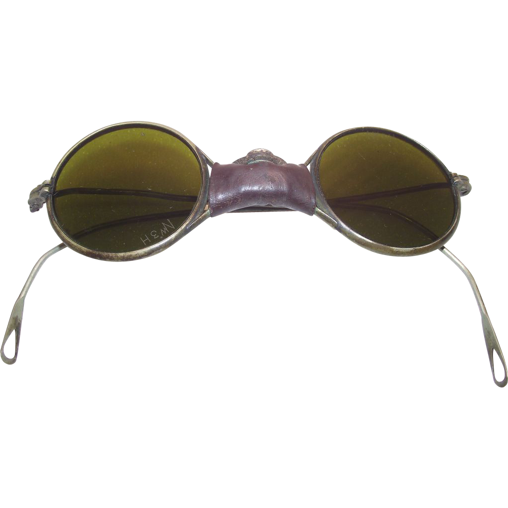 Round Wire Rimmed Sunglasses circa 1930 John Lennon Style
